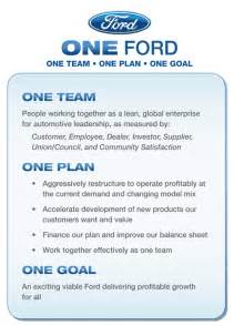 Ford Motor Company Mission Statement Does Ford Still Need Alan Mulally R Childress