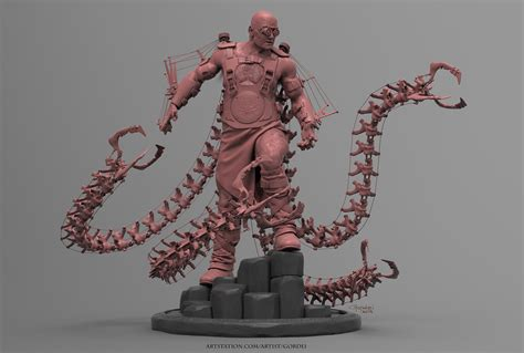 zbrush octopus tutorial comicon 15 3d conan the octopus zbrush character