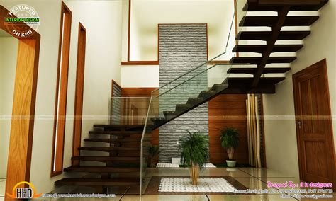 house stair design staircase bedroom dining interiors kerala home design and floor plans