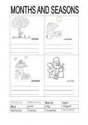 english teaching worksheets months and seasons