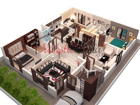 2 Storey Commercial Building Floor Plan by 3d Floor Plans 3d House Design 3d House Plan Customized