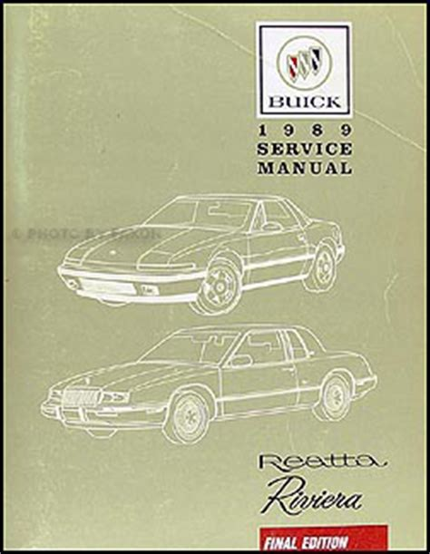 book repair manual 1989 buick riviera spare parts 1986 93 buick riviera reatta parts book original
