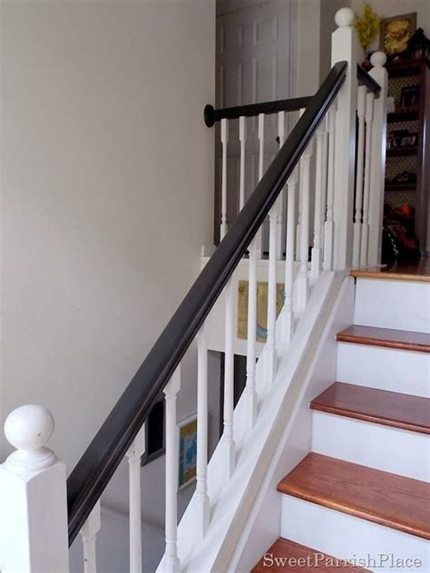 1000 ideas about black painted stairs on