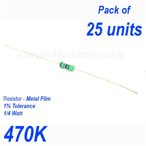 470k resistor high precision metal resistor 1 tolerance 1 4 0 25 watt