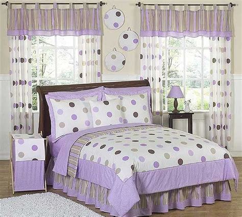 lavender twin bedding lavender mod dots comforter set 3 piece full queen size