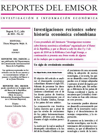 colombia biograf a actividad cultural del banco de investigaciones recientes sobre historia econ 243 mica