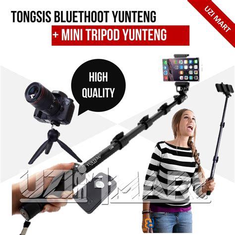 Tongsis Mini Dengan Tombol Kamera Cocok Buat Hobi Selfie jual tongsis bluetooth yunteng yt 1288 mini tripod yunteng high quality uzi mart