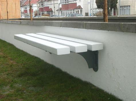 wall mounted bench seating versa street furniture mild steel seats benches