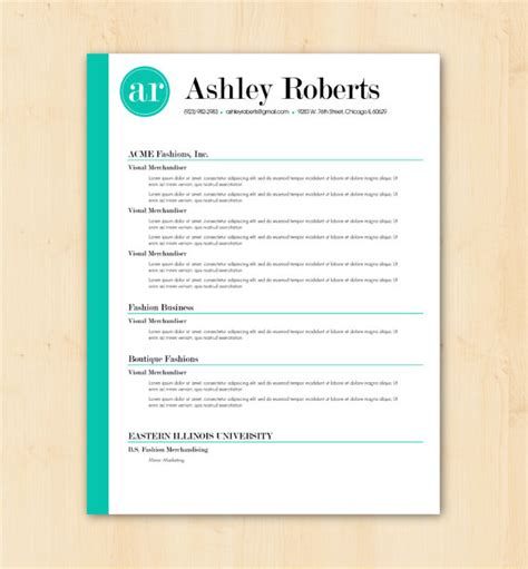 resume word document template resume template cv template the by phdpress