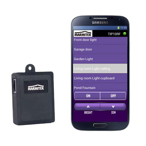 smartphone home automation marmitek controller tip10rf