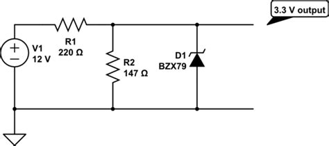 reducing voltage using resistors is using zener diode with a voltage divider sensible electrical engineering stack exchange