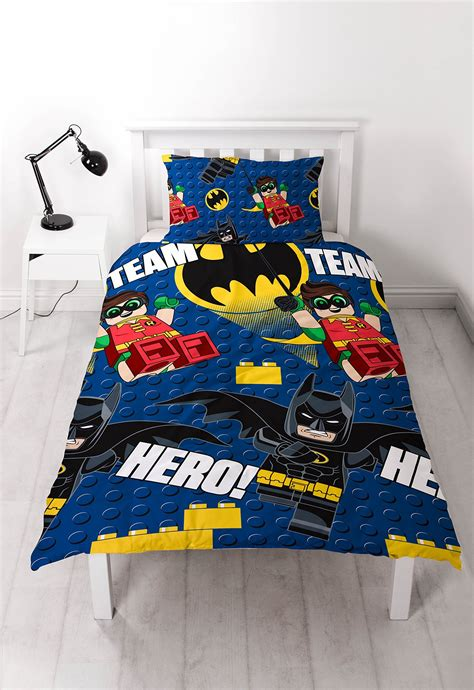 Bed Cover 160x200 lego batman reversible rotary single bed duvet quilt cover set 5055285404024