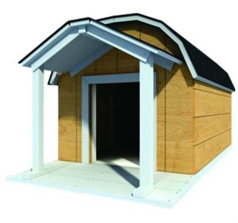 dimensions for large dog house 48 quot x 60 quot dog house plans gambrel roof pet size to 150 lbs large dog 08 k9