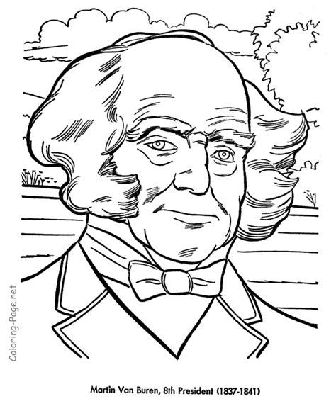 Martin Van Buren Us President Coloring Pages Us Presidents Coloring Pages