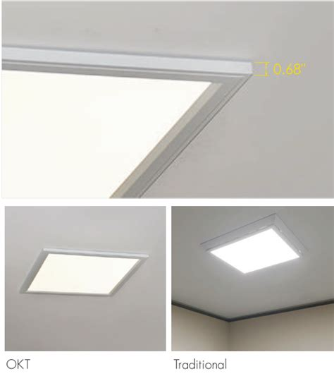 air panel led air flat panel with integrated recessed suspending surface