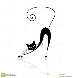 Black cat silhouette for your design royalty free stock photos image