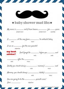 baby shower mad libs template free baby mad libs baby advice baby shower ideas