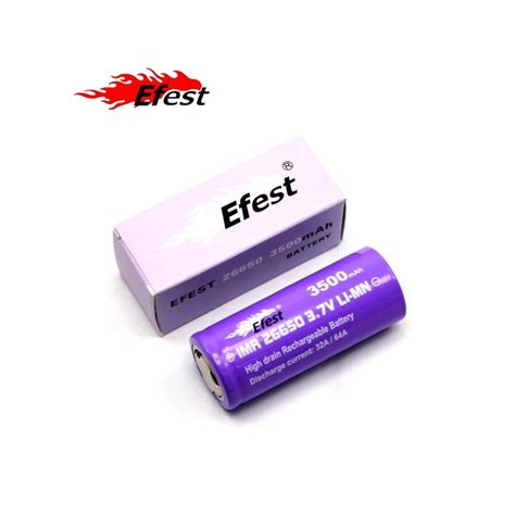 Efest Purple Imr 26650 Li Mn Battery 3500mah 3 7v 64a With Flat Top 26650v1 batterie accu efest purple imr 26650 64a 3500mah vap experience