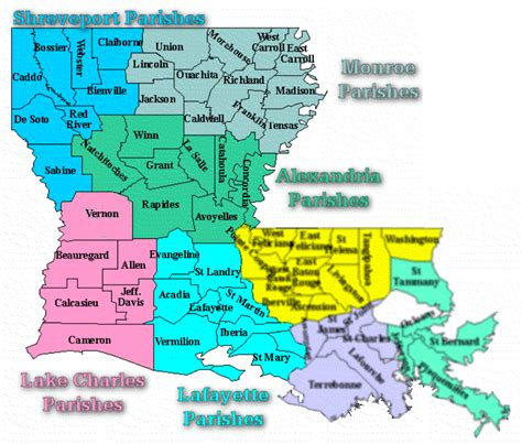 louisiana map with parishes clerk s office western district of louisiana united
