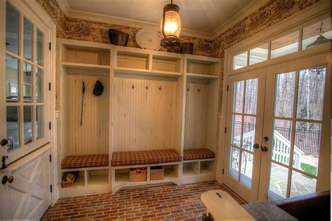 Country Mud Room with Crown molding by Atlanta Sold