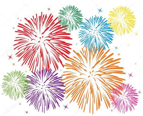 clipart capodanno vettoriali colorati fuochi d artificio vettoriali stock