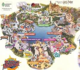Map Of Universal Studios Orlando by Gallery For Gt Harry Potter Universal Studios Map