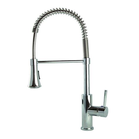 spring kitchen faucet fontaine modern european single handle pull down sprayer