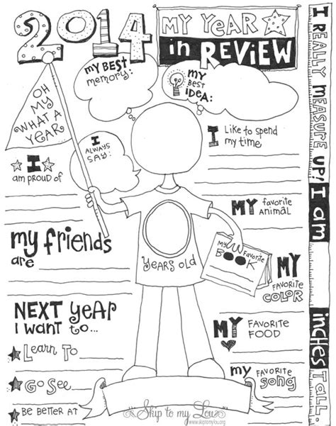 Calendar Review Worksheets Free Kid S Year In Review Printable Coloring Page Skip