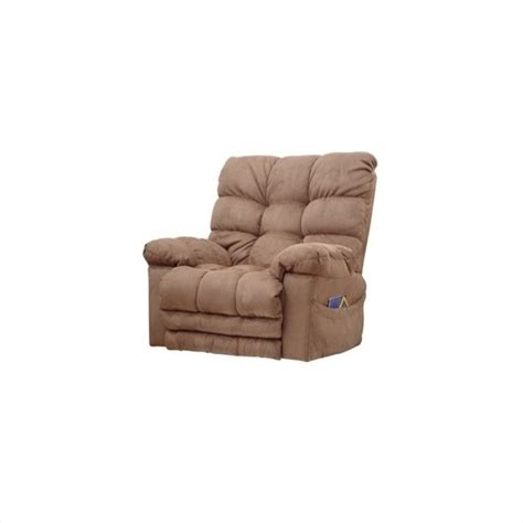 magnum recliner catnapper magnum chaise rocker recliner in saddle