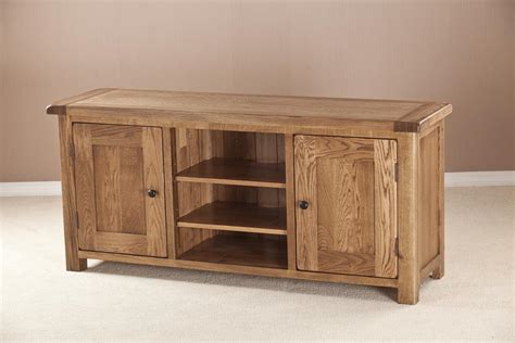 wooden television cabinets with doors windsor rustic oak large stand 2 door oak world