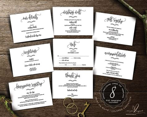 Free Wedding Invitation Inserts Downloads