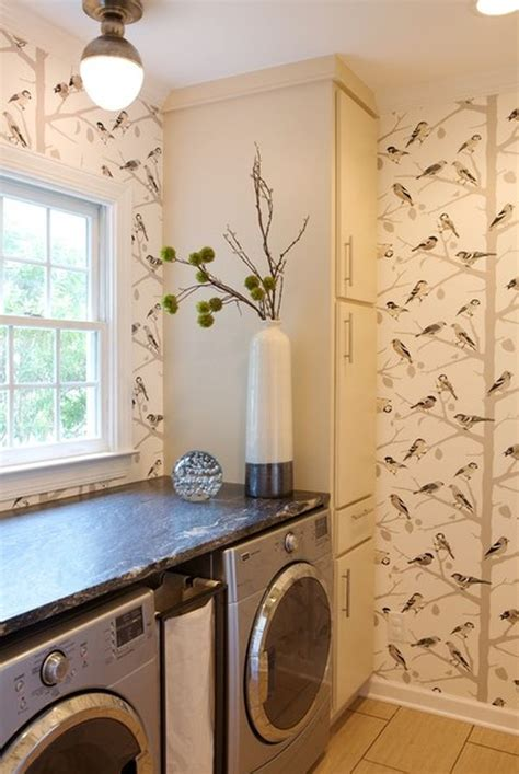 laundry room wallpaper laundry rooms how to make them stylish