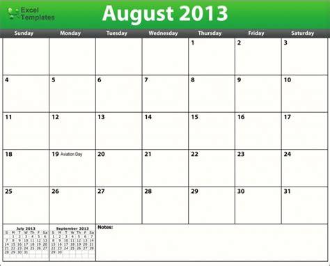 August Printable Calendar Free 2013 Calendars Printable Calendar August 2013