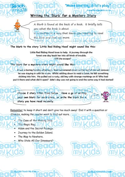 new year 2016 story ks2 writing the blurb for a mystery story teach my