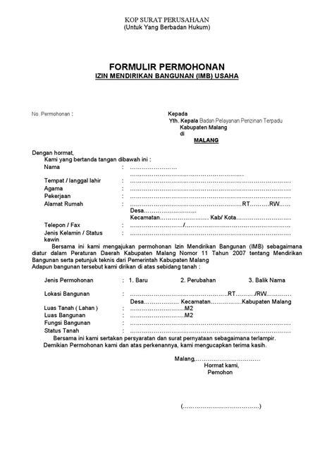 format surat kuasa pengurusan imb imb usaha by perizinan malangkab go id issuu