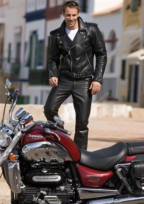 mens motorcycle leathers biker style leather biker