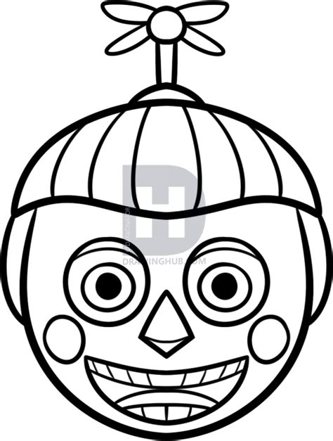 five nights at freddy s coloring book great coloring pages for and adults unofficial edition books how to draw bb easy balloon boy step by step