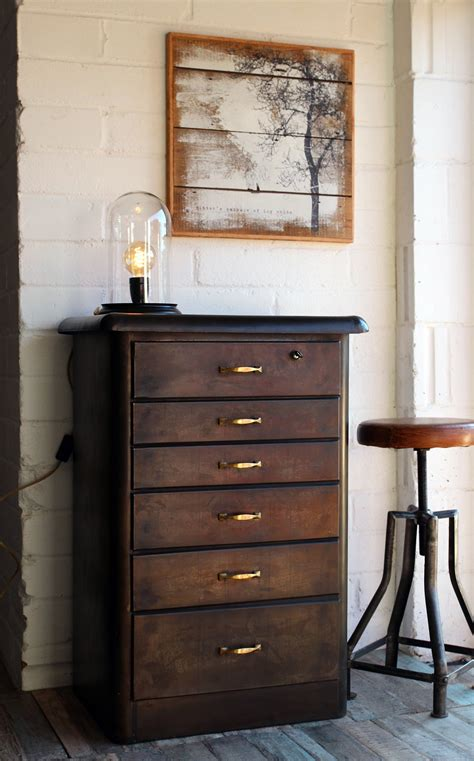 Vintage Style Drawers by Objects Of Design 249 Vintage Style Metal Chest Of