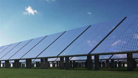 solar panels solar energy farm 3d animation stock