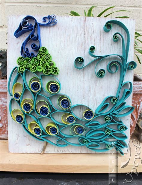 Arts And Crafts With Paper Towel Rolls - hometalk paper towel roll into bohemian rustic peacock