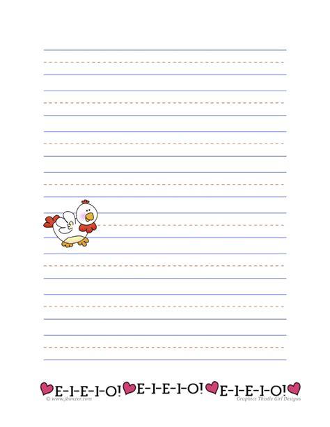 farm writing paper mrs bonzer s writing paper