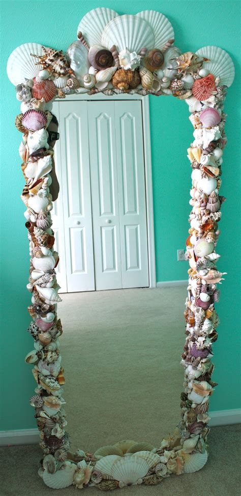 diy shell mirror purchased shells  michaels