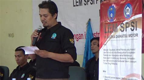 Lem Dlukol Tanggung pelantikan pleno puk astra daihatsu motor fsp lem spsi