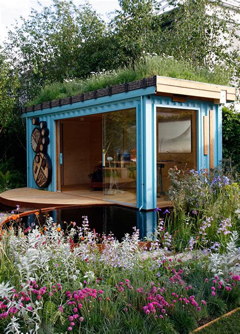 green roof shelters container family