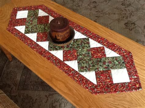 Patchwork Table Runner - items similar to table runner patchwork zigzag