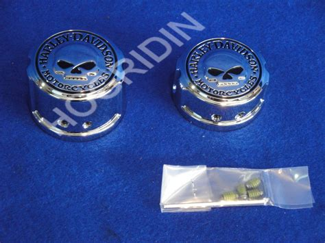 Willy G Axle Nut Harley Davidson harley willie g skull rear axle nut cover kit dyna wide glide low rider ebay