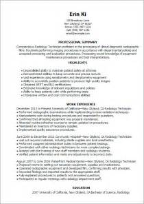 Radiology Technician Resume by Professional Radiology Technician Templates To Showcase Your Talent Myperfectresume