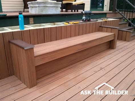 build deck bench build deck bench seating ask the builder