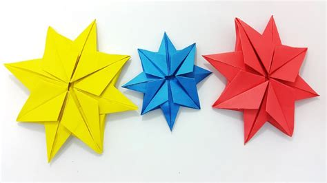 origami christmas decorations step by step origami easy decoration ideas origami 8 pointed