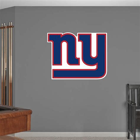 new york giants home decor new york giants logo wall decal shop fathead 174 for new